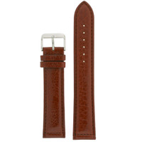 Long Brown Leather Watch Band | Polished Burnt Saddle Watch Strap | TechSwiss  LEA1471 | Main