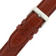 Long Brown Leather Watch Band | Polished Burnt Saddle Watch Strap | TechSwiss  LEA1471 | Buckle