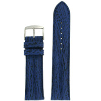 Navy Shark Skin Watch Band | Blue Exotic Grain Watch Straps | TechSwiss LEASH10BLUE | Main