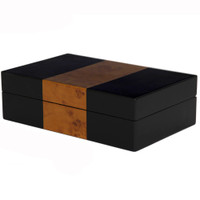 Watch box in Black and Burl Wood | TSBXBB10 | Closed