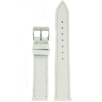 White Leather Band Top View