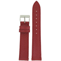Burgundy Leather Watch Band | Metallic Leather Straps | TechSwiss LEA565 | Main