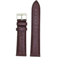 Watch Band Genuine Leather Brown Purple Metallic - Quick Release Springs