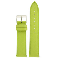 Lime Green Metallic Leather Watch Band | Quick Release TechSwiss Watch Bands LEA561 | Main
