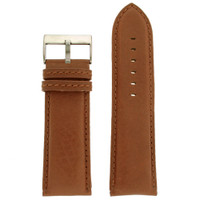Extra Wide XL Watch Band in Brown Calfskin