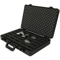 Watch Case in Aluminum Black Briefcase