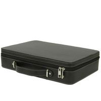 Case Large Watch Travel Briefcase | TechSwiss TS6300BLK | Closed
