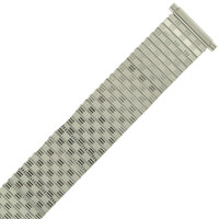18mm -20mm Watch Band Expansion Metal Stretch Silver Color Thin Line Mens