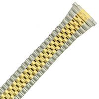 Two Tone Stretch Metal Watch Band - 16 - 20 mm