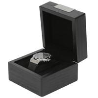 Engravable Single Watch Box - Black
