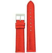 Red Metallic Shiny Leather Watch Band | Built In Spring Bars | TechSwiss LEA377 | Main