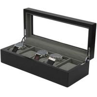 5 Watch Box Black Open TSBOX6100ESSBK