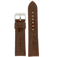 Brown Alligator Grain Leather Watch Band | TechSwiss Brown Leather Watch Bands | LEA331 | Main