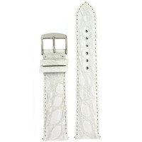 White Crocodile Quick Release Watch Band | Easy Change White Crocodile Genuine Leather Watch Band | TechSwiss LEA846 | Main