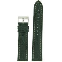 Dark Green Crocodile Genuine Leather Watch Band | Exotic Skin Straps | TechSwiss LEA875 | Main