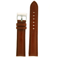 Watch Band Genuine Calfskin Leather Brown Thick Padded