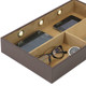 Leather Electronic Valet | Mens Charger Station | Luxury Mens Storage | TechSwiss  TS6904BWN | Main