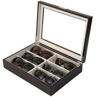 Eyeglass Case for 6 glasses by Tech Swiss - Top View Open