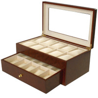 Cherry Watch Box | 20 Watches | Montego | TechSwiss - Open View