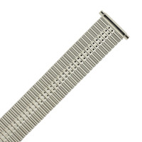 Thin Expansion Metal Stretch Silver Color Watch Band