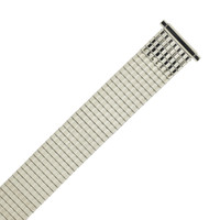 Expansion Metal Watch Band Stretch Silver-Tone Thin Line TSMET187