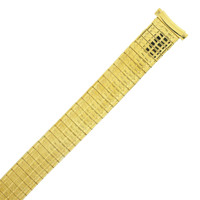 Watch Band Expansion Metal Stretch Gold-Tone Curved Ends (TSMET333)