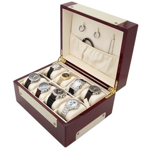 Watch and Jewelry Burlwood Box for Men   TechSwiss TSBOX8100   Main Photo