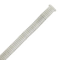 Silver Tone Ladies Watch Band Expansion Strap