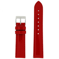Red Patent Leather Watch Band | Red Glossy Watch Strap | Cherry Red Watch Band | Italian Calfskin | LEA401 | Main