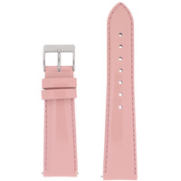 Light Pink Patent Leather Watch Band | Pink Glossy Leather Watch Strap | Pink Patent Leather Watch Band | TechSwiss LEA402 | Main