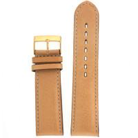 Beige Leather Watch Band LEA1363