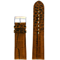 Crocodile Grain Brown Leather Watch Band LEA1364