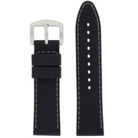 Waterproof Silicone Watch Band with White Topstitch | TechSwiss RS141 | Main
