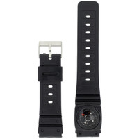 20mm Watch Band Replacement Plastic Black Compass PLABAN3