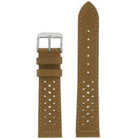 Light Brown Leather Watch Band Mens TSA420