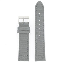Gray Canvas Watch Band | Gray Sport Water Resistant Watch Straps | TechSwiss LEA1200 | Main