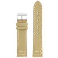 Tan Men's Canvas Watch Band | Modern Sport Watch Bands | TechSwiss LEA1220 | Main