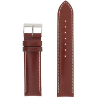 Red Watch Band Leather Water Resistant LEA475
