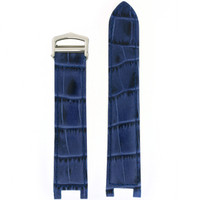 Blue Pasha NON ORIGINAL Leather Watch Band | Crocodile Grain Pasha Replacement Straps | TechSwiss LEAPABRN | Main