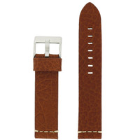 Tan Brown Watch Strap Thick | TechSwiss LEA1378-22SS | Front