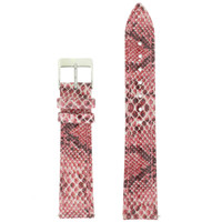 Pink Watch Band Snake Grain | Tech Swis LEA1122 | Front