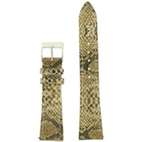 Tan Watch Band Snake Grain | Tech Swis LEA1123 | Front