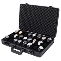 Aluminum Watch Case Black Briefcase Design For 24 Watches