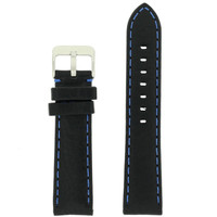 Black Padded Watch Strap   Tech Swiss TS581-22SS  Front