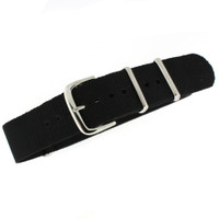 Nylon Strap with SS Buckle - Black