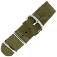 Nylon Strap with SS Buckle - Olive Green