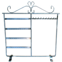 JEWELRY STAND EARRINGS AND NECKLACES ORGANIZER IN SILVER