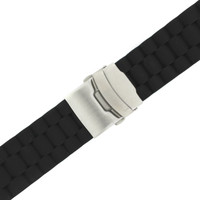 Watch Band Silicon Rubber Deployment Buckle Adjustable