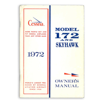 D902-13   CESSNA 172L OWNERS MANUAL 1972