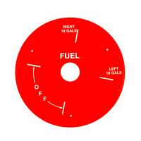 U12709-003RD   PIPER RED FUEL PLATE